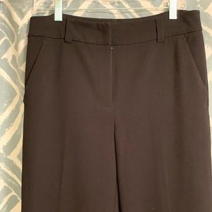 Wide leg black trouser pants